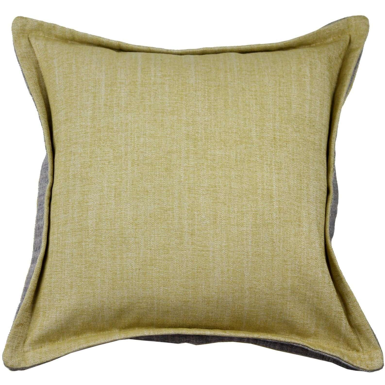 McAlister Textiles Rhumba Accent Ochre Yellow + Grey Cushion Cushions and Covers Cover Only 43cm x 43cm