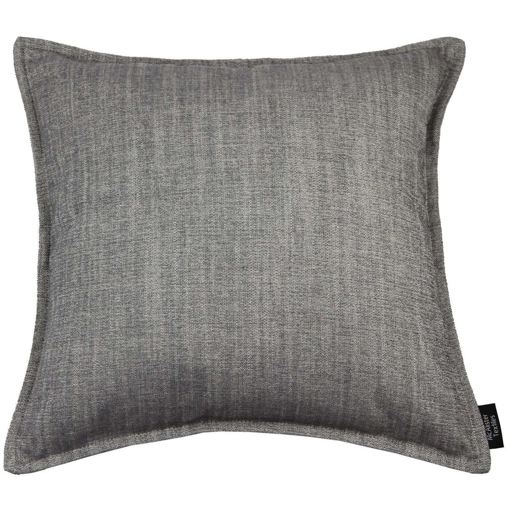 McAlister Textiles Rhumba Charcoal Grey Cushion Cushions and Covers Cover Only 43cm x 43cm