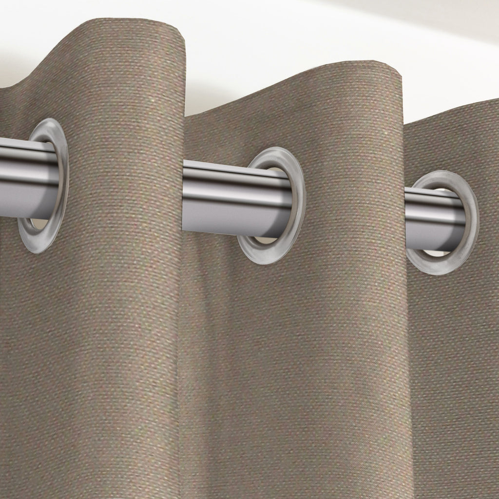 "McAlister Textiles Panama Plain Taupe Curtains Tailored Curtains 116cm(w) x 137cm(d) (46"" x 54"")"