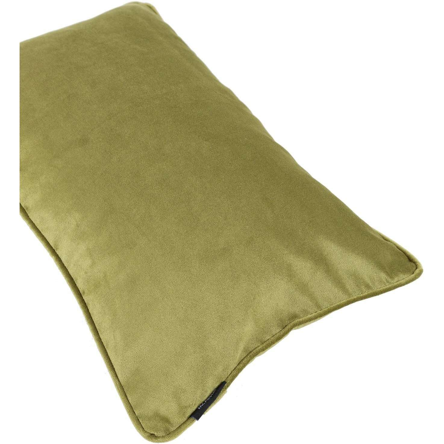 McAlister Textiles Matt Lime Green Velvet Cushion Cushions and Covers