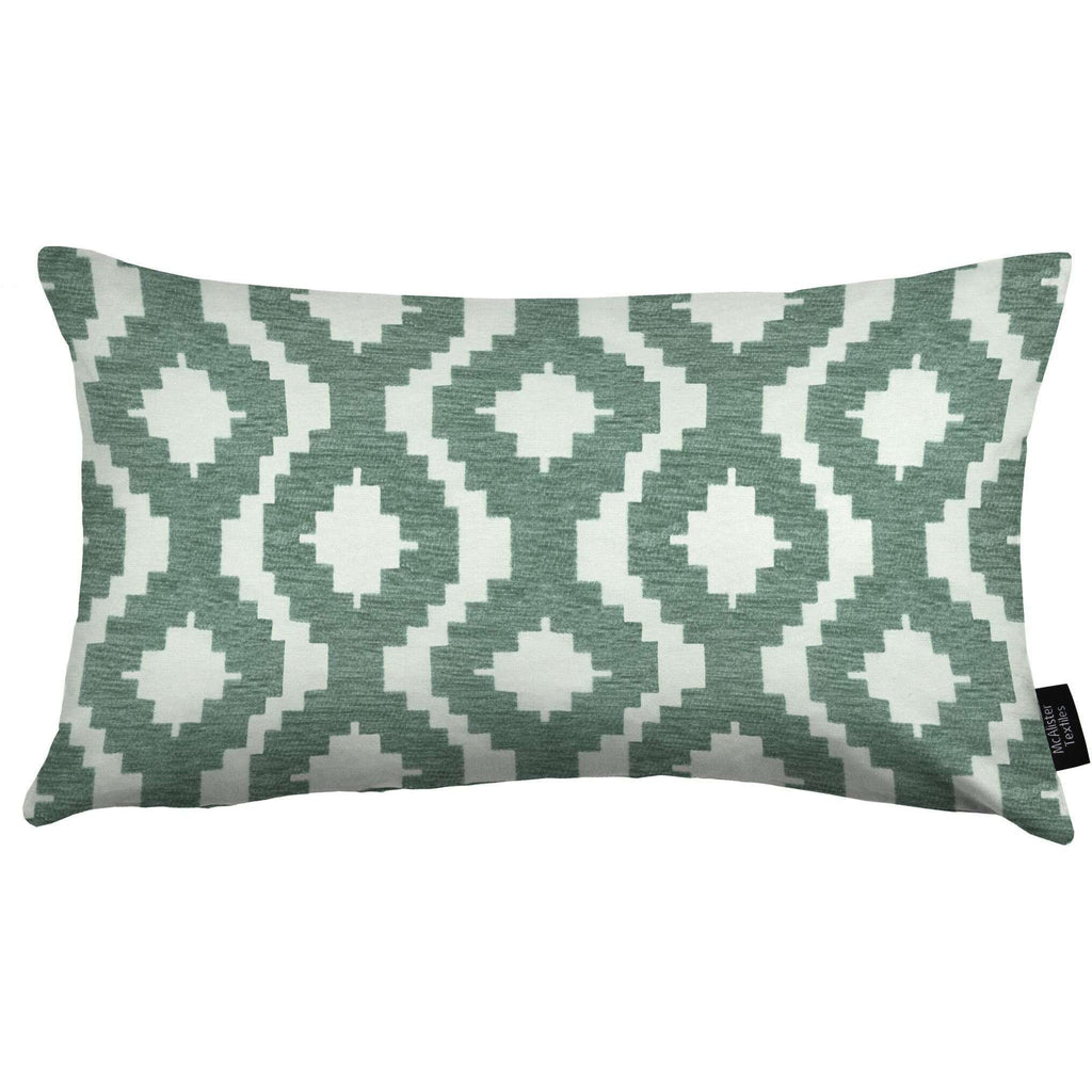 McAlister Textiles Arizona Geometric Duck Egg Blue Pillow Cushions and Covers