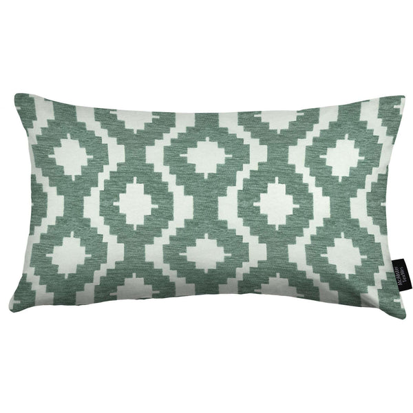 McAlister Textiles Arizona Geometric Duck Egg Blue Pillow Pillow Cover Only 50cm x 30cm