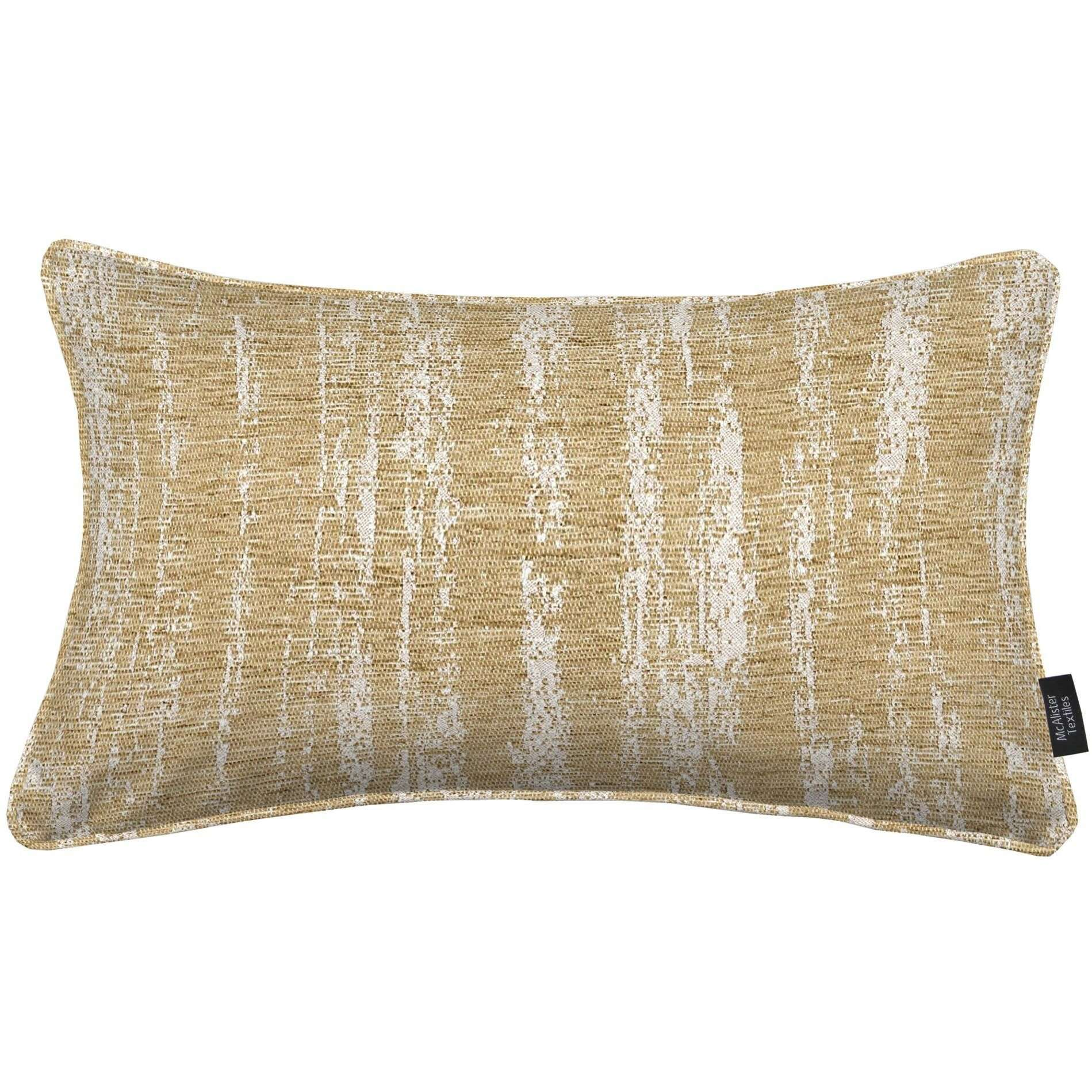 McAlister Textiles Textured Chenille Beige Cream Pillow Pillow Cover Only 50cm x 30cm