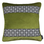 Load image into Gallery viewer, McAlister Textiles Cancun Striped Lime Green Velvet Pillow Pillow Cover Only 43cm x 43cm