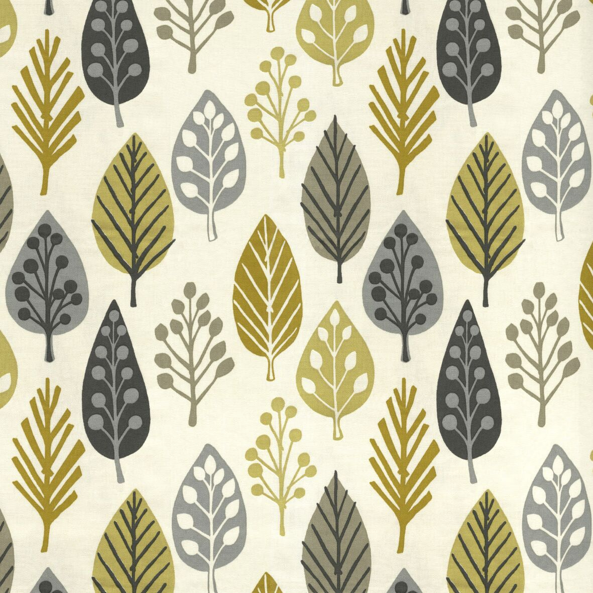McAlister Textiles Magda Cotton Print Ochre Yellow Roman Blind Roman Blinds