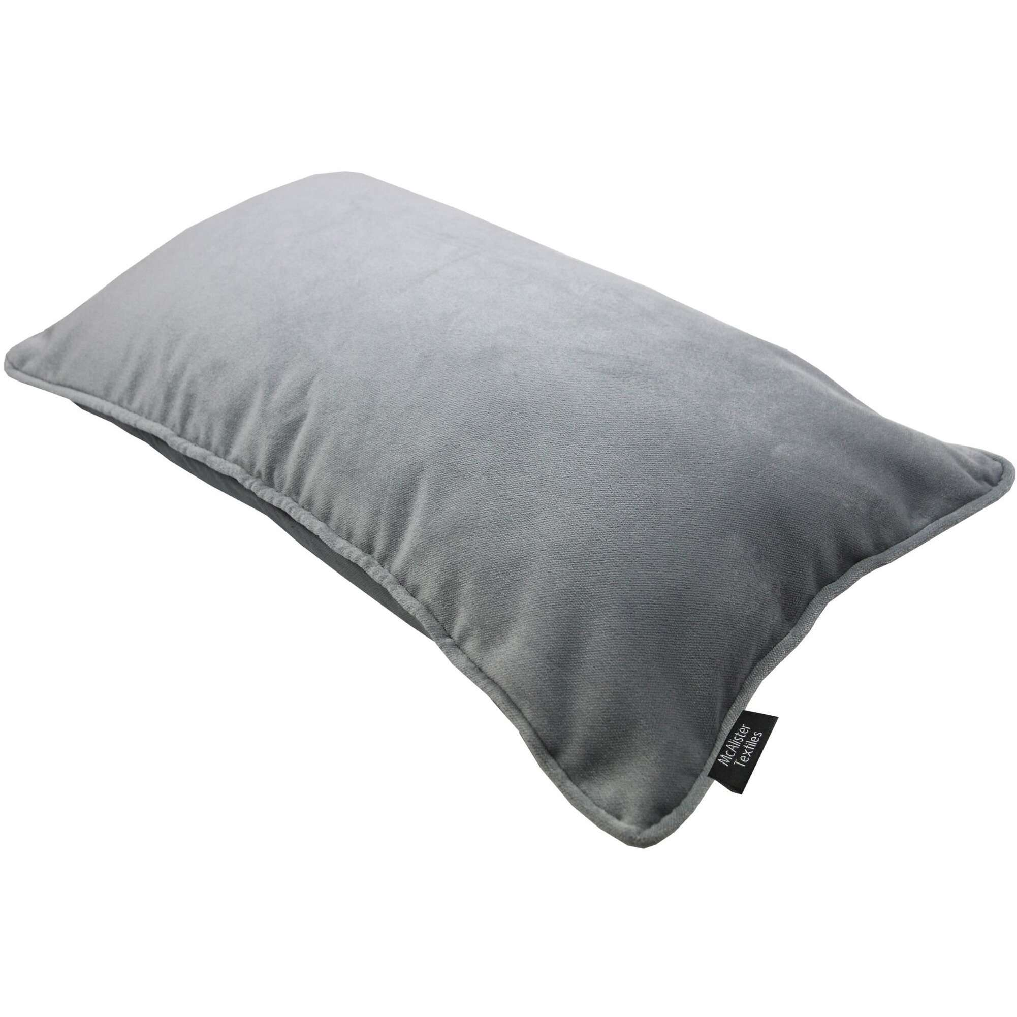 McAlister Textiles Matt Dove Grey Velvet Pillow Pillow