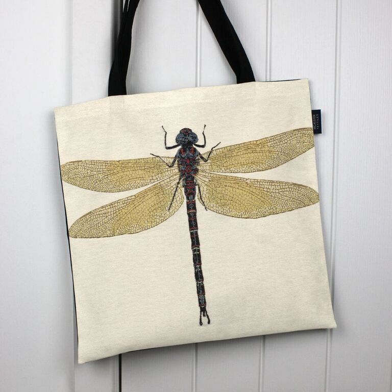 McAlister Textiles Dragonfly Tapestry Tote Bag Tote Bag