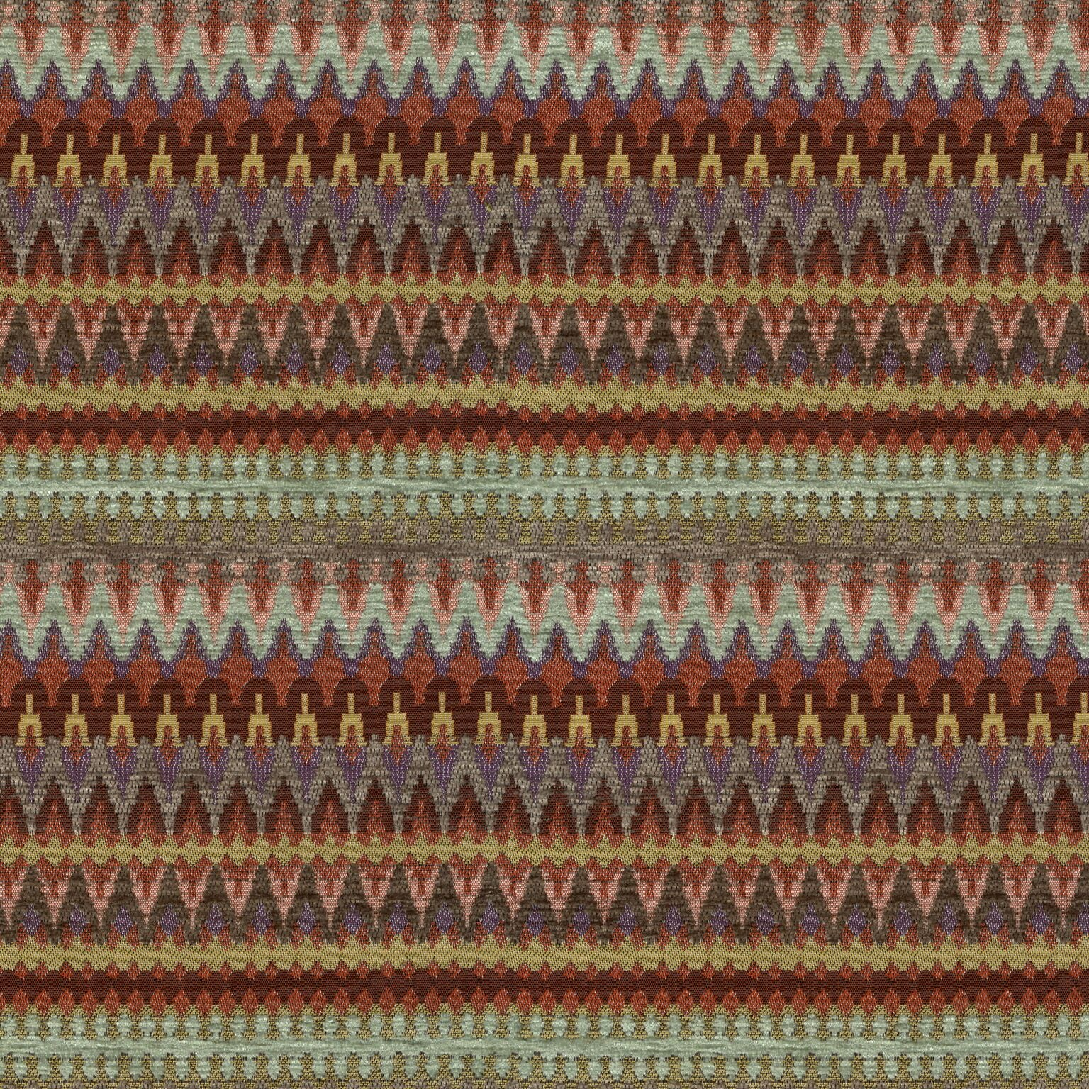 McAlister Textiles Curitiba Aztec Red + Purple Curtains Tailored Curtains