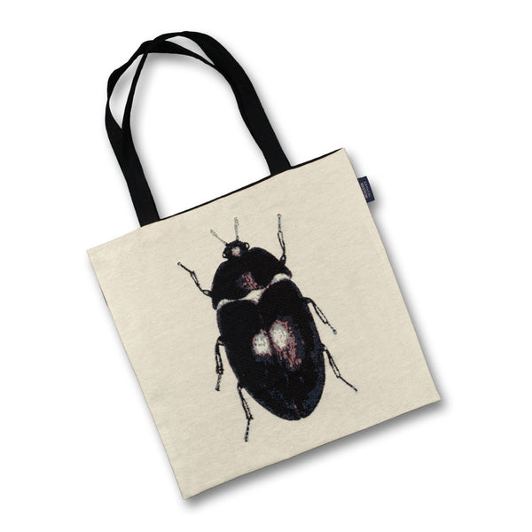 McAlister Textiles Black Beetle Tapestry Tote Bag Tote Bag