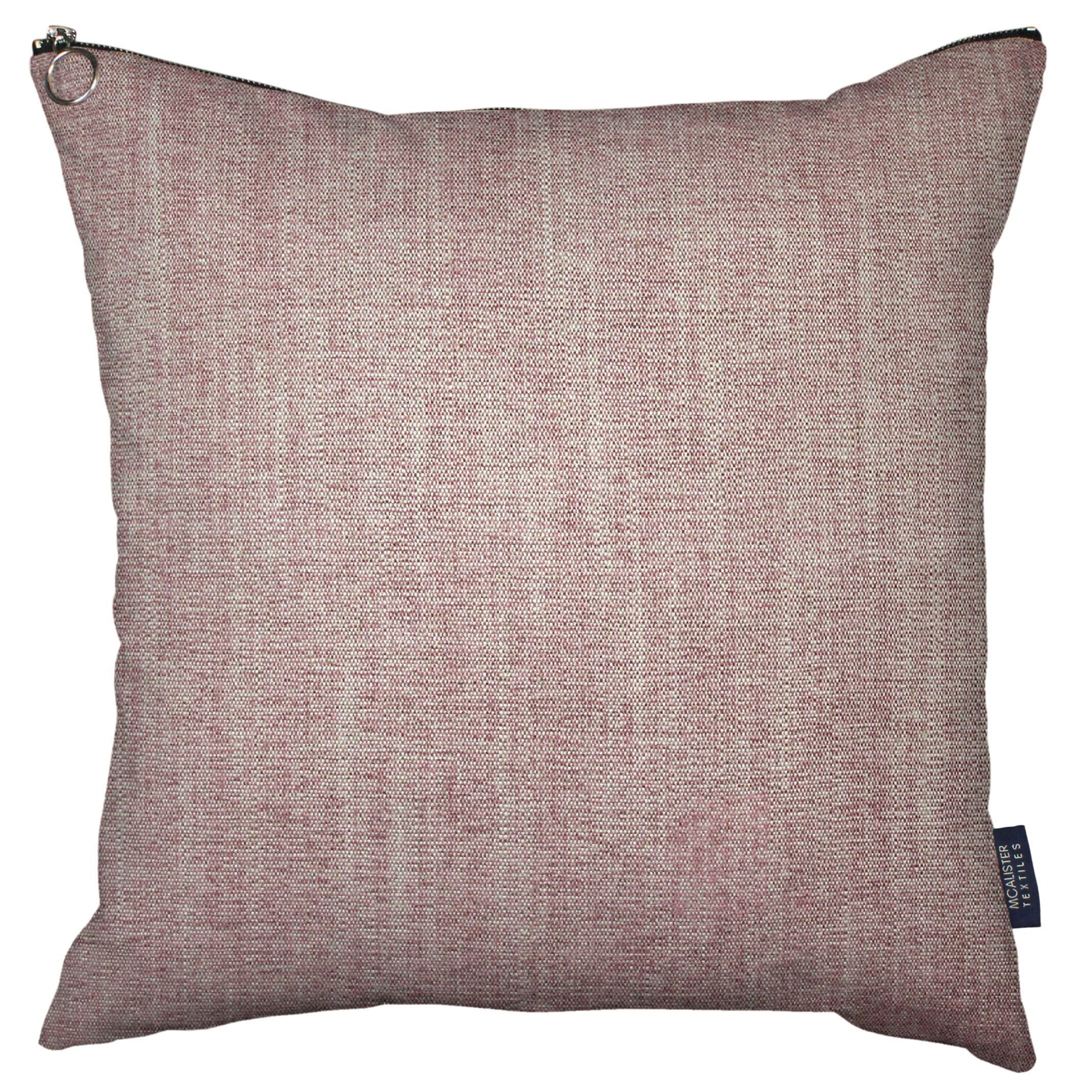 McAlister Textiles Rhumba Zipper Edge Blush Pink Linen Cushion Cushions and Covers Cover Only 43cm x 43cm