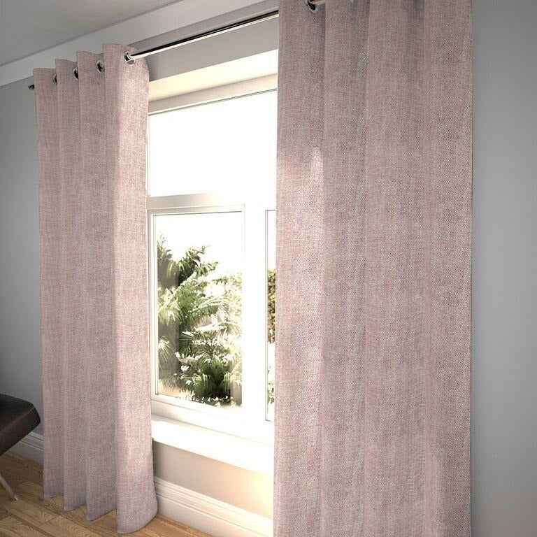 "McAlister Textiles Rhumba Blush Pink Curtains Tailored Curtains 116cm(w) x 182cm(d) (46"" x 72"")"