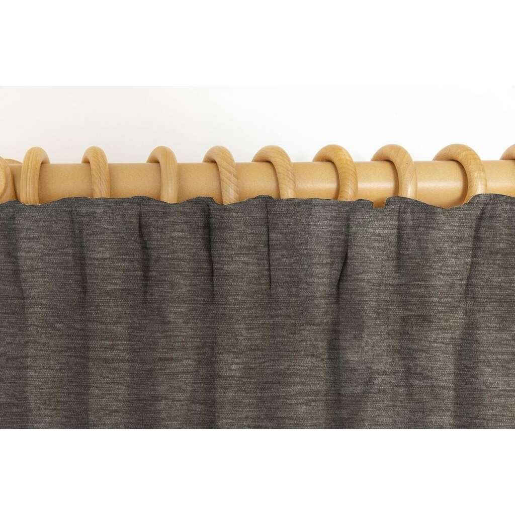 McAlister Textiles Plain Chenille Charcoal Grey Curtains Tailored Curtains