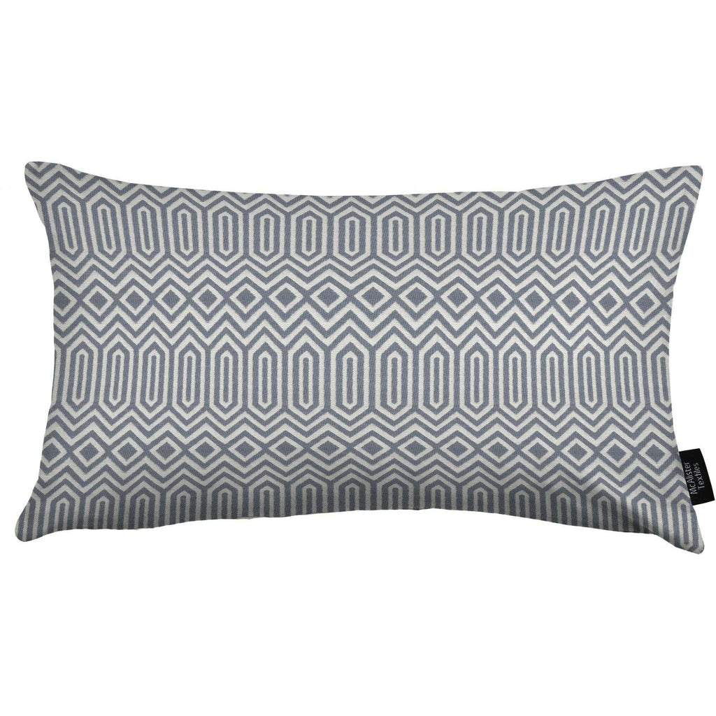 Colorado Geometric Boudoir Pillow - Wedgewood Blue-Cushions and Covers-