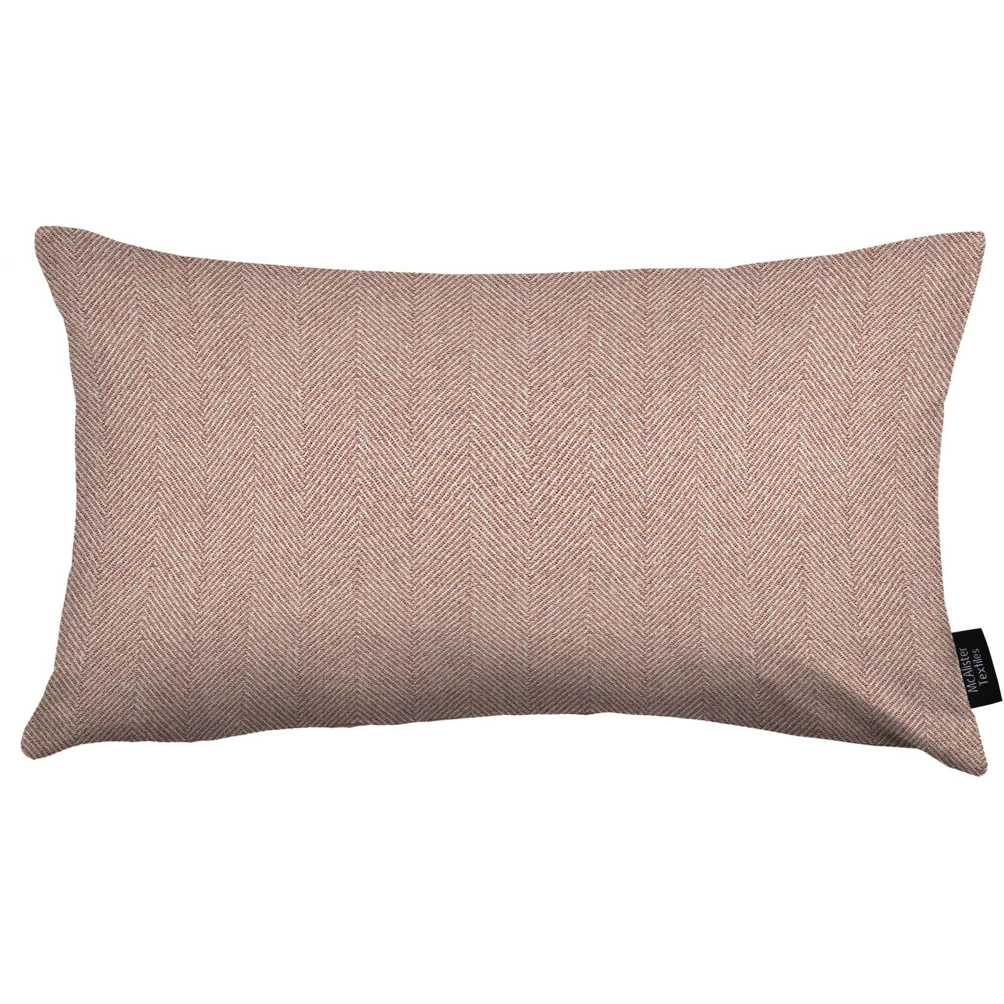 McAlister Textiles Herringbone Lilac Purple Cushion Cushions and Covers Cover Only 50cm x 30cm