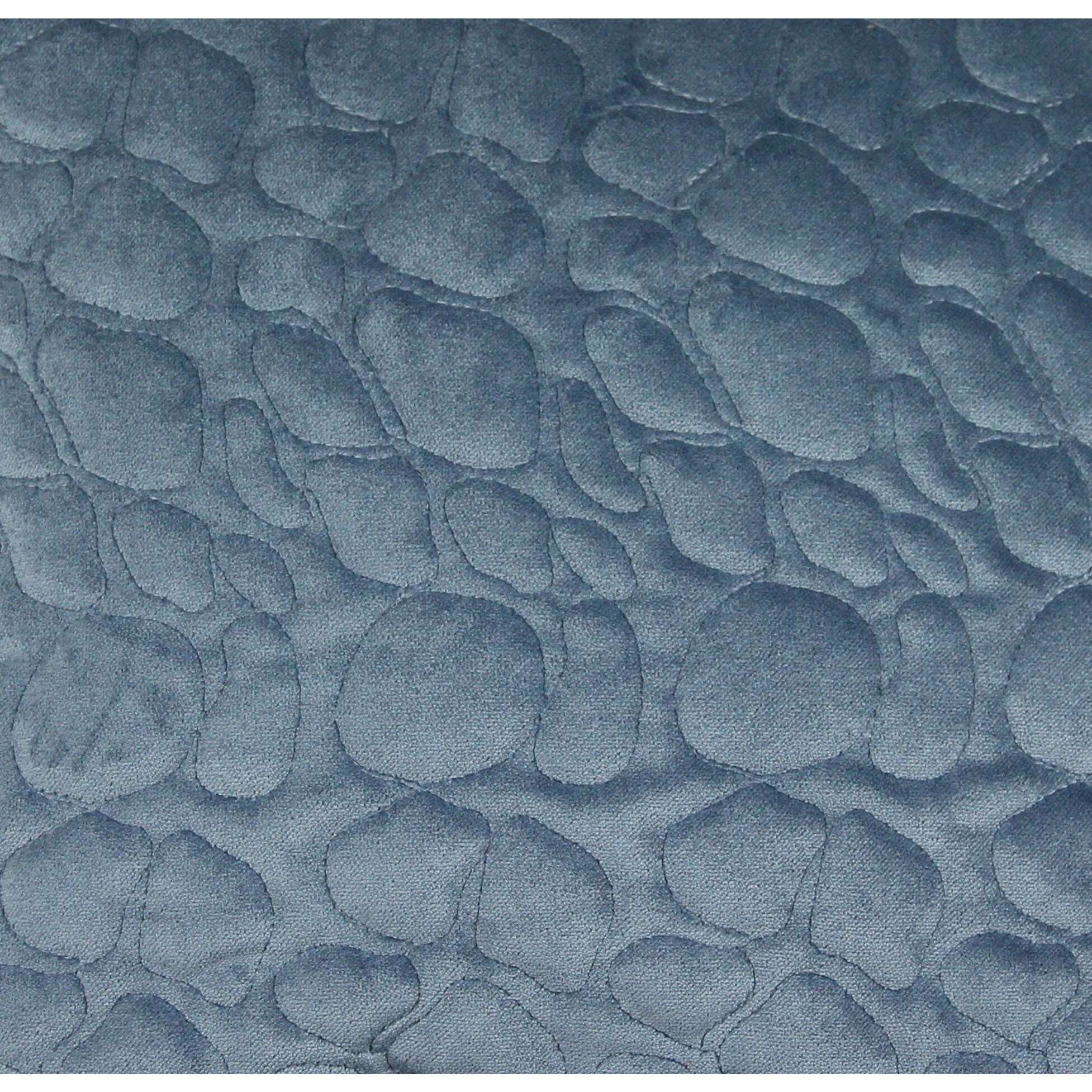 McAlister Textiles Pebble Pattern Blue Velvet Makeup Bag - Large Clutch Bag