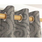 Load image into Gallery viewer, McAlister Textiles Little Leaf Charcoal Grey Curtains Tailored Curtains