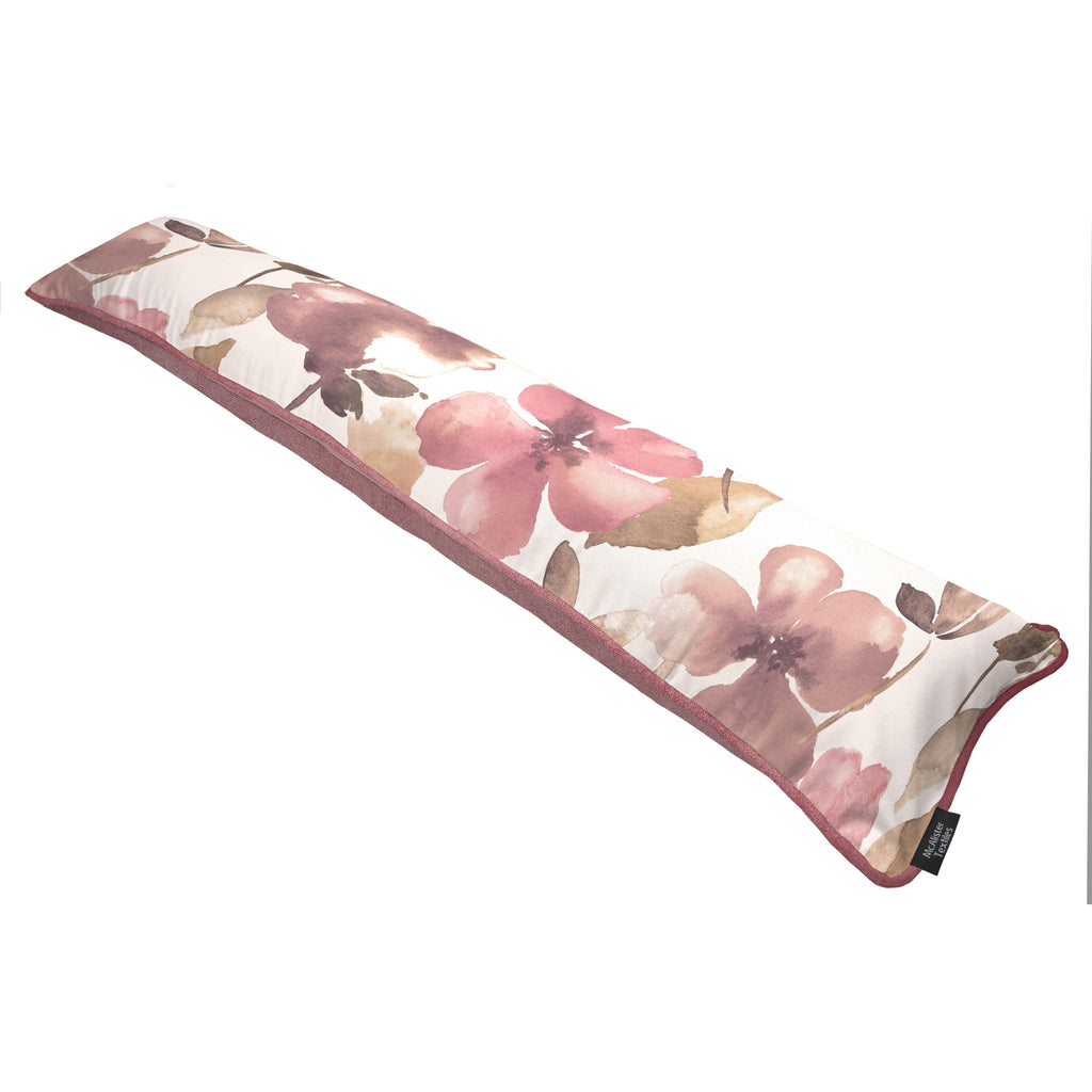 McAlister Textiles Blush Floral Pink Geometric Draught Excluder Draught Excluders