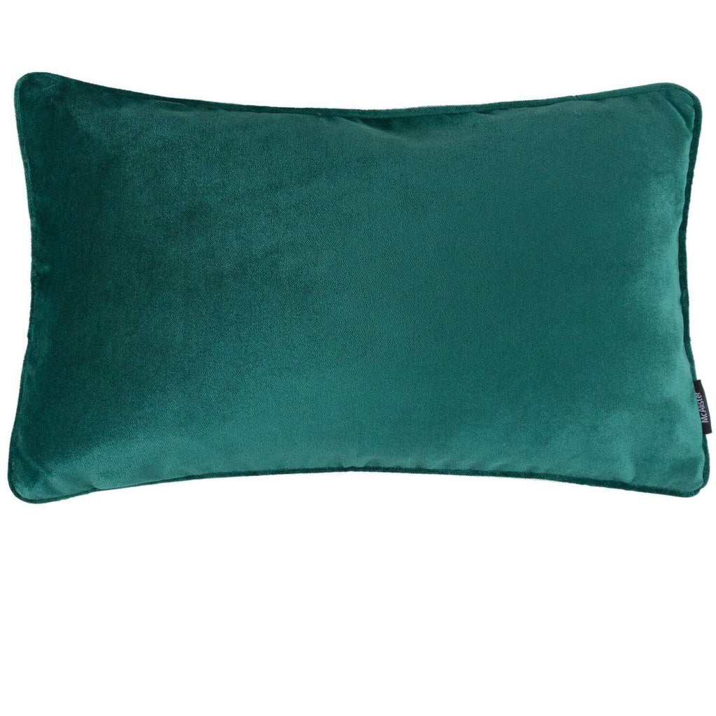 McAlister Textiles Matt Emerald Green Velvet Pillow Pillow Cover Only 50cm x 30cm