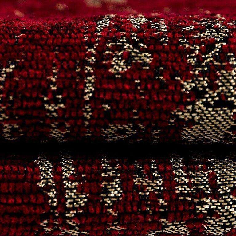 McAlister Textiles Textured Chenille Wine Red Curtains Tailored Curtains