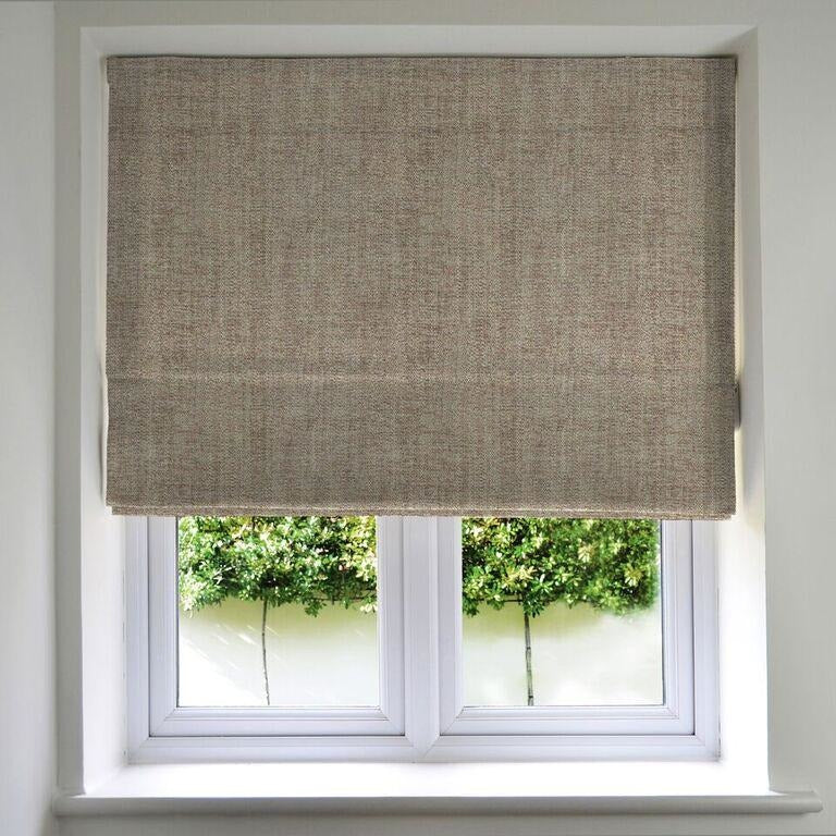 McAlister Textiles Rhumba Taupe Beige Roman Blind Roman Blinds Standard Lining 130cm x 200cm