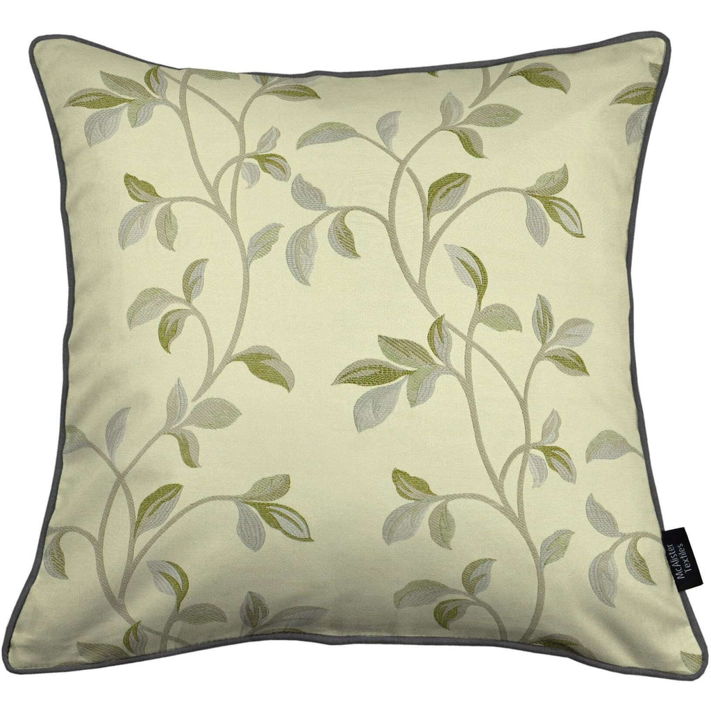 McAlister Textiles Annabel Floral Sage Green Cushion Cushions and Covers Cover Only 43cm x 43cm