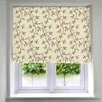 Carica l'immagine nel visualizzatore di Gallery, McAlister Textiles Annabel Floral Cherry Red Roman Blind Roman Blinds Standard Lining 130cm x 200cm