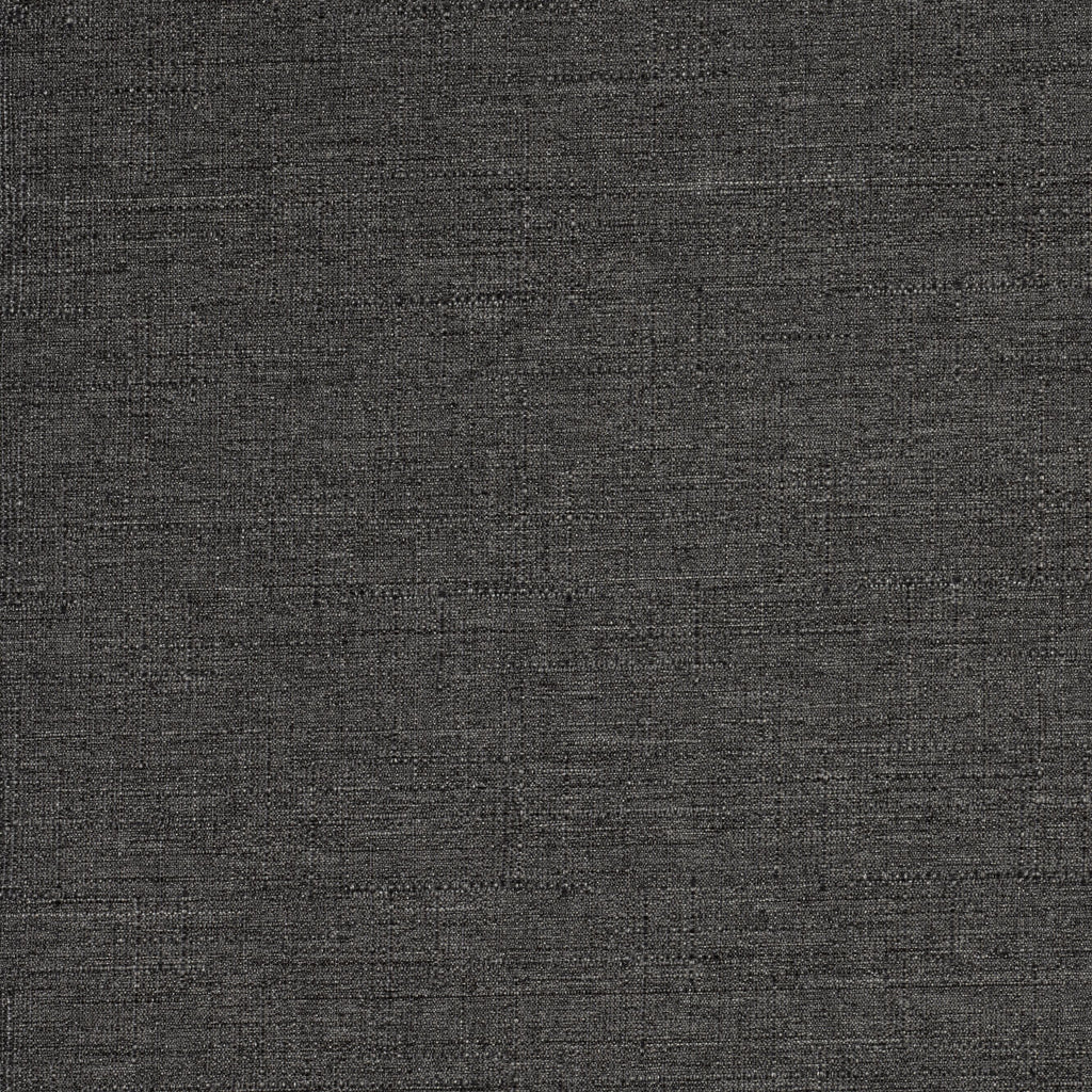 McAlister Textiles Nero Charcoal Grey Linen Blackout Fabric Fabrics 1 Metre