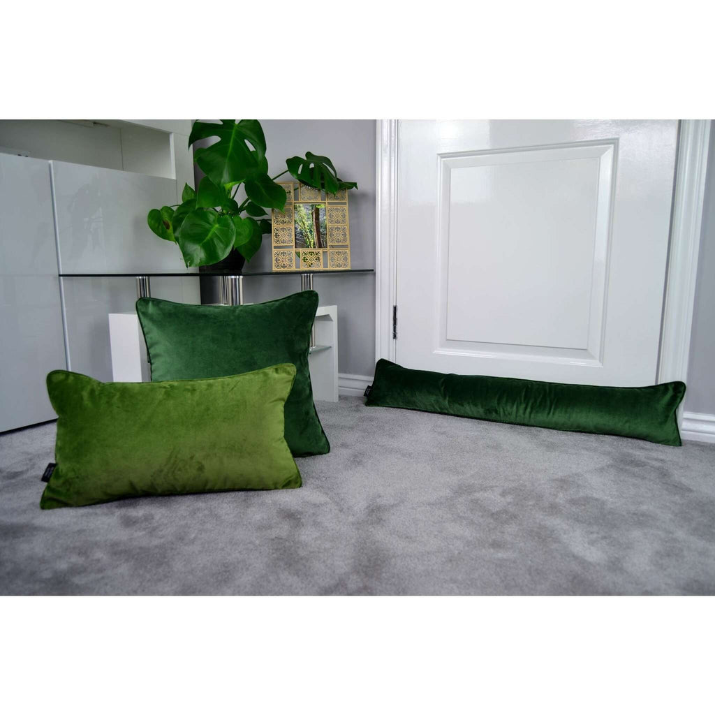 McAlister Textiles Matt Fern Green Velvet Cushion Cushions and Covers
