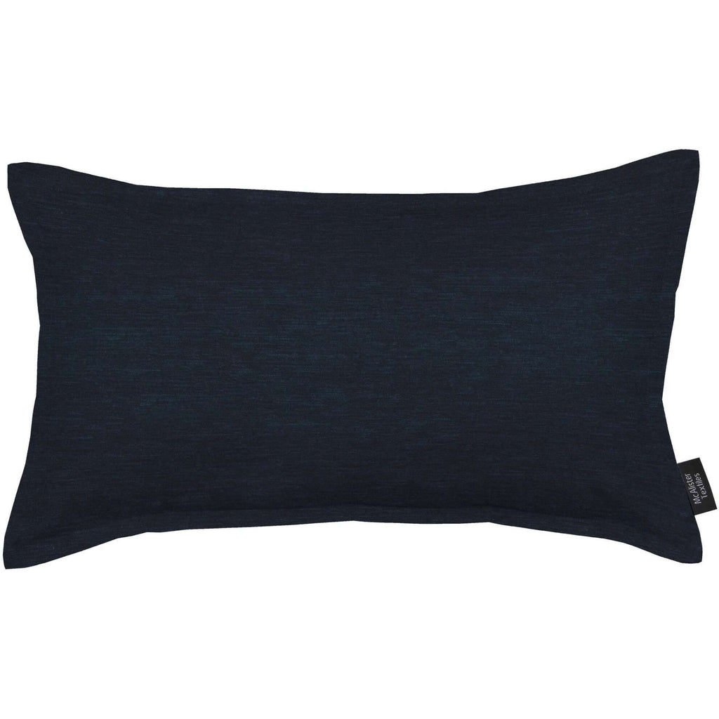 McAlister Textiles Plain Chenille Navy Blue Pillow Pillow Cover Only 50cm x 30cm