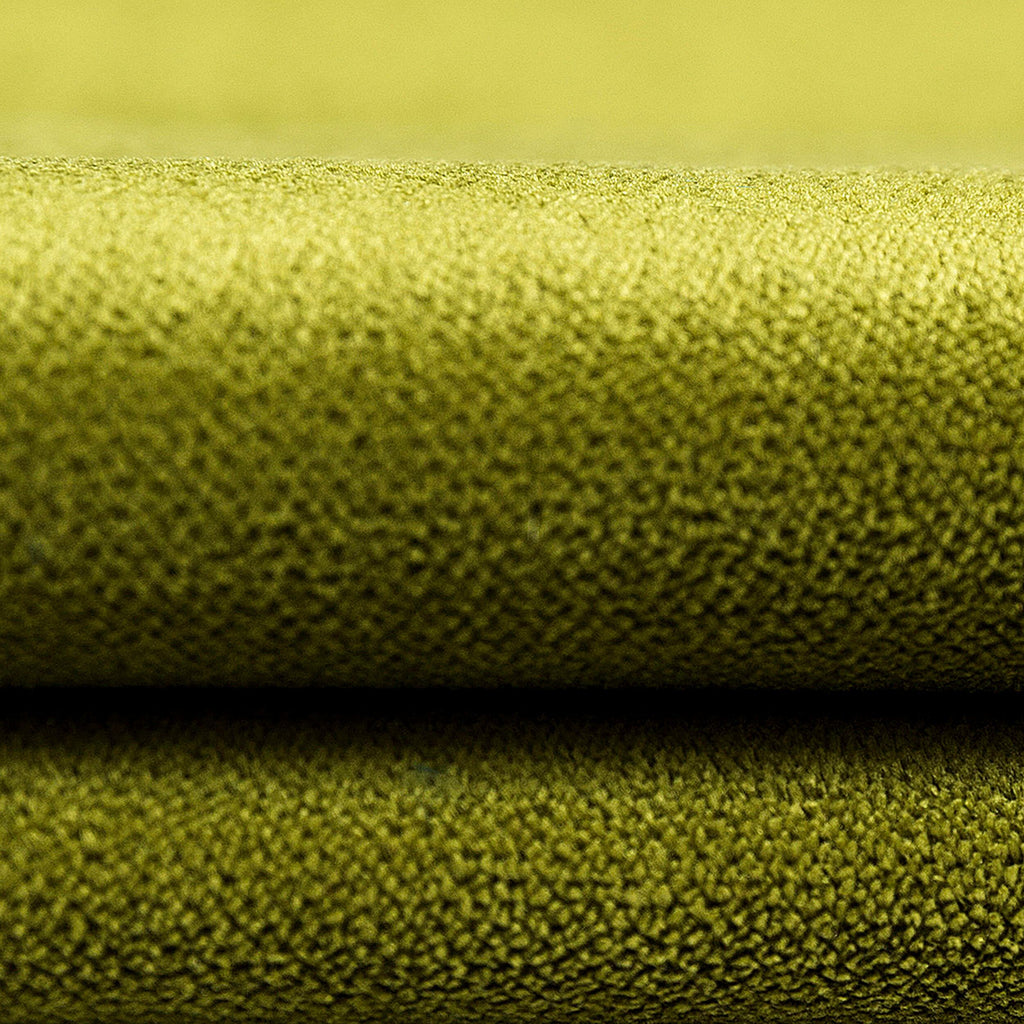 McAlister Textiles Cancun Striped Lime Green Velvet Cushion Cushions and Covers