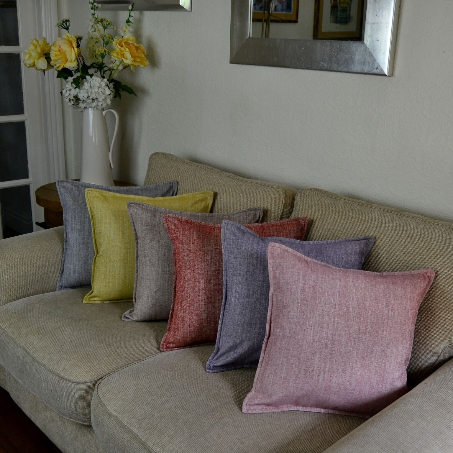McAlister Textiles Rhumba Taupe Beige Cushion Cushions and Covers