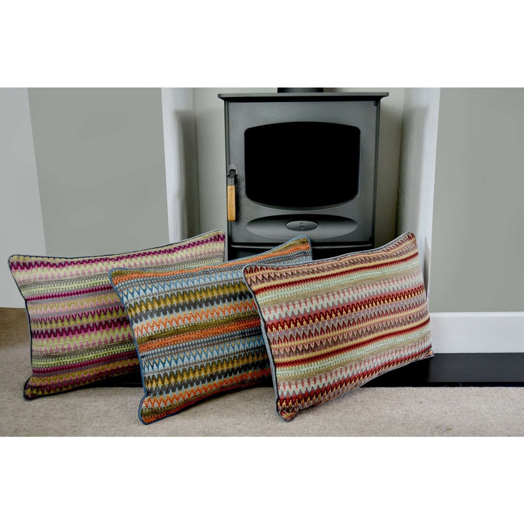 McAlister Textiles Curitiba Aztec Red + Purple Pillow Pillow