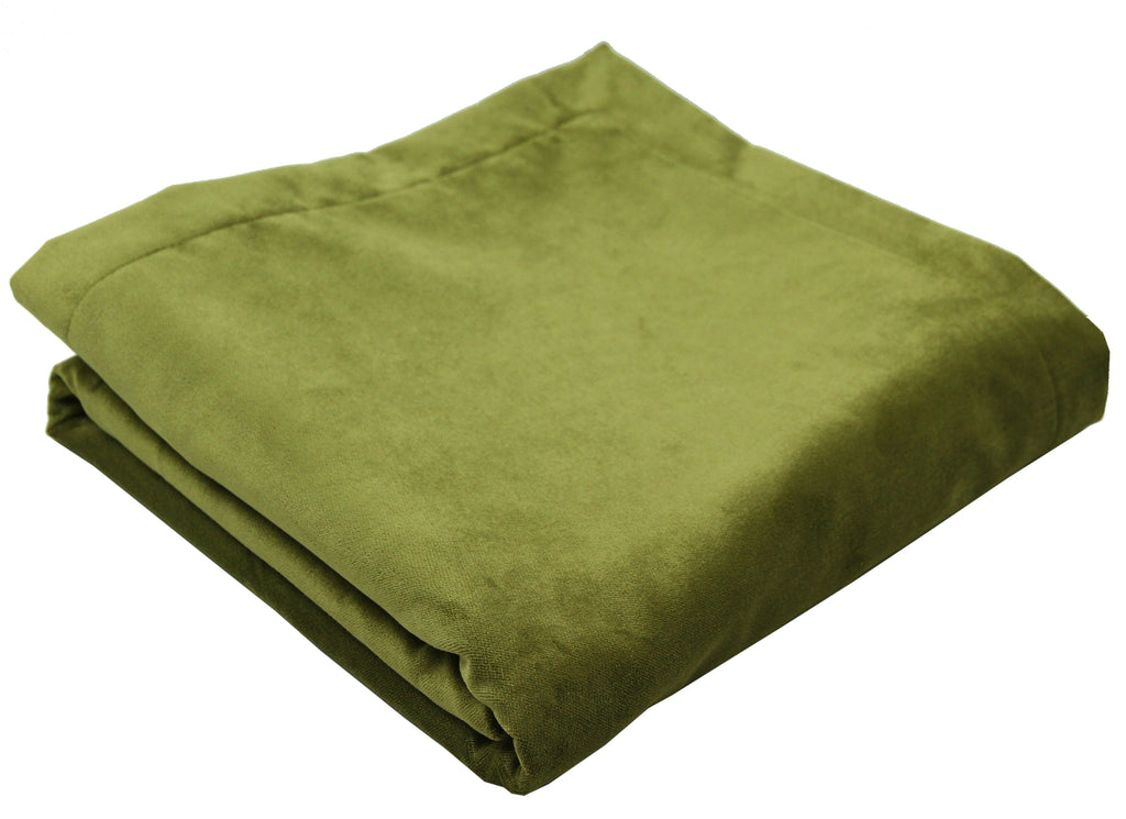 McAlister Textiles Matt Lime Green Velvet Bedding Set Bedding Set