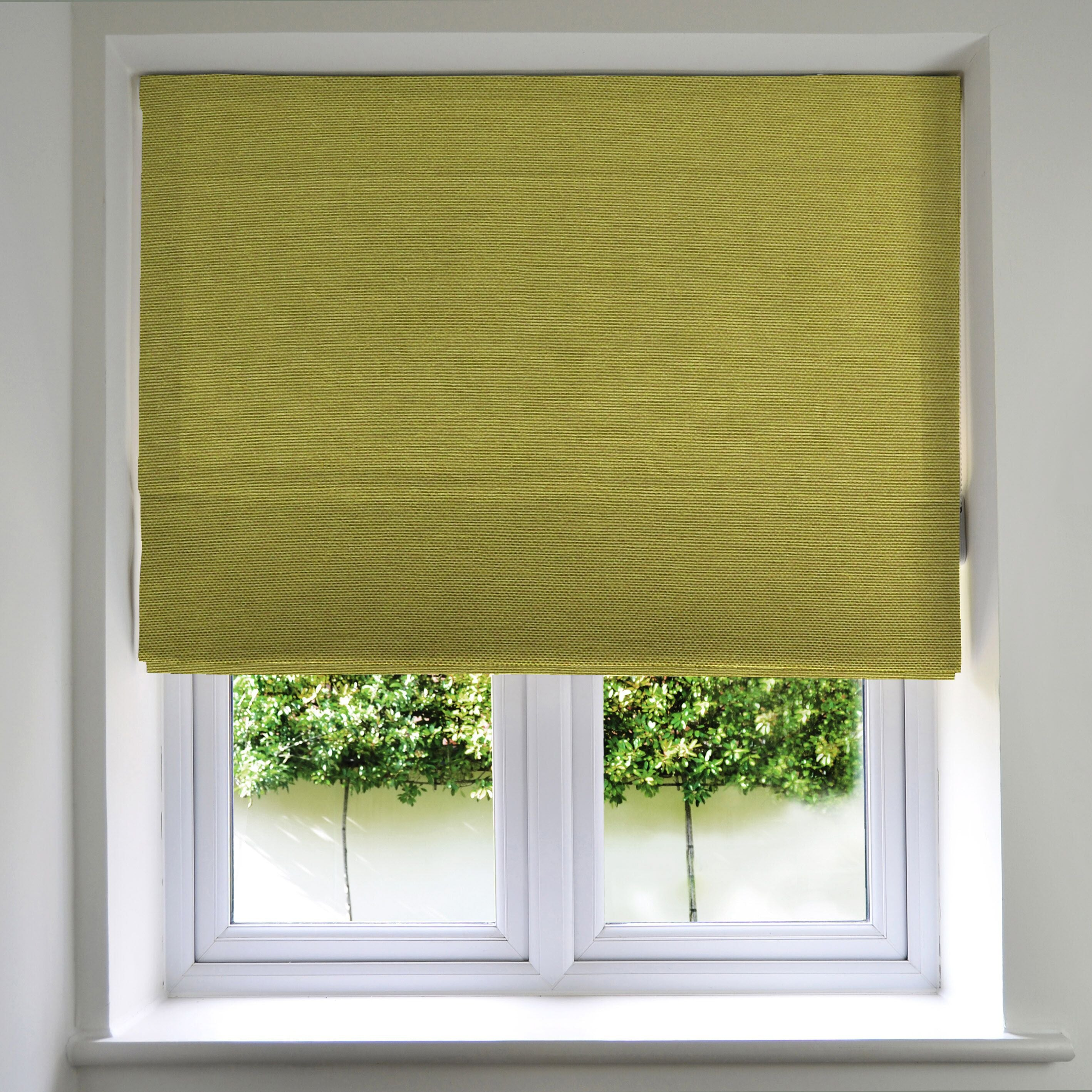 McAlister Textiles Panama Lime Green Roman Blind Roman Blinds Standard Lining 130cm x 200cm Lime Green