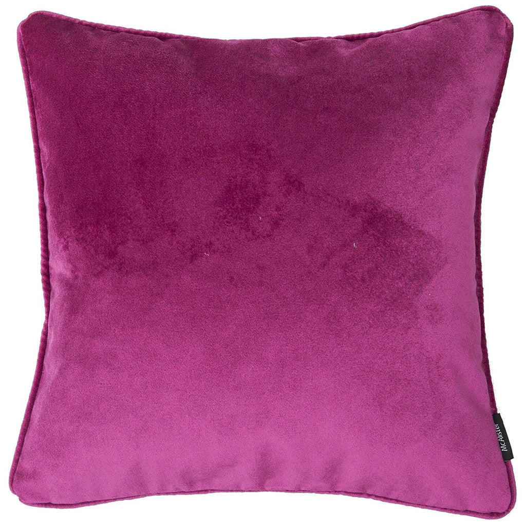 McAlister Textiles Matt Fuchsia Pink Velvet 43cm x 43cm Cushion Sets Cushions and Covers