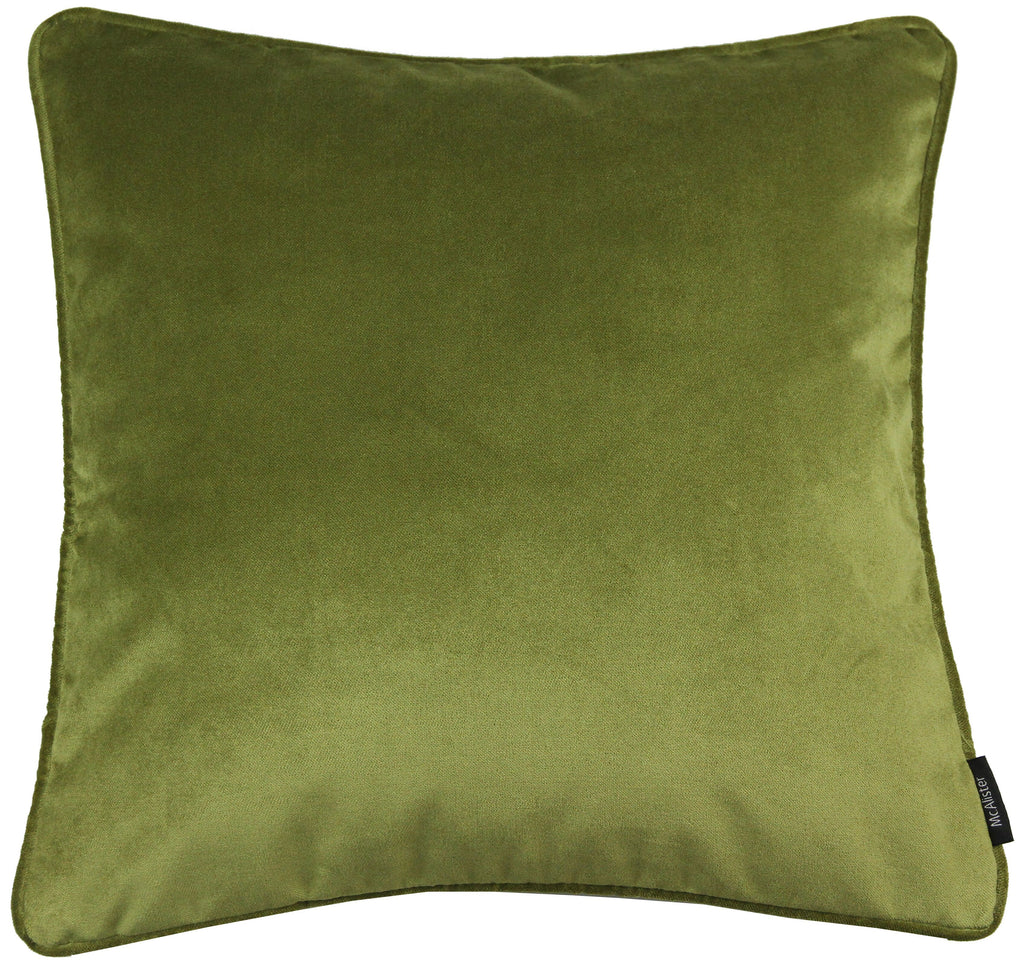 McAlister Textiles Matt Lime Green Velvet 43cm x 43cm Cushion Sets Cushions and Covers