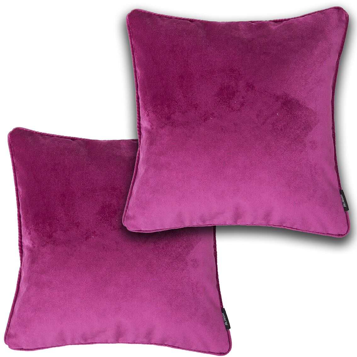 McAlister Textiles Matt Fuchsia Pink Velvet 43cm x 43cm Cushion Sets Cushions and Covers Cushion Covers Set of 2