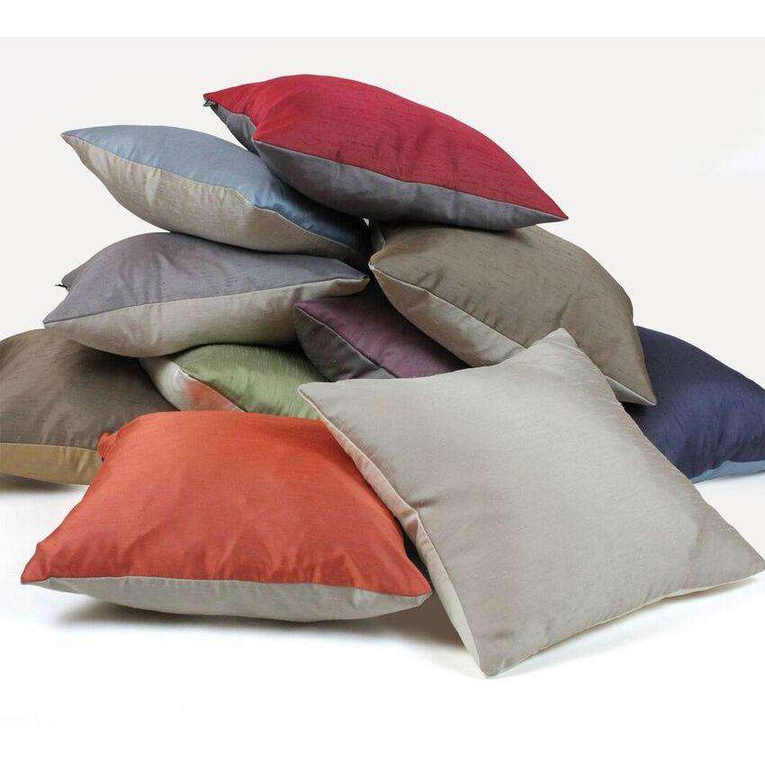 McAlister Textiles Rocco Contrast Faux Silk Natural + Bronze Cushion Cushions and Covers