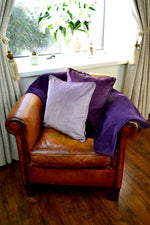 Load image into Gallery viewer, McAlister Textiles Matt Lilac Purple Velvet 43cm x 43cm Cushion Sets Cushions and Covers