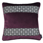 Load image into Gallery viewer, McAlister Textiles Cancun Striped Aubergine Purple Velvet Pillow Pillow