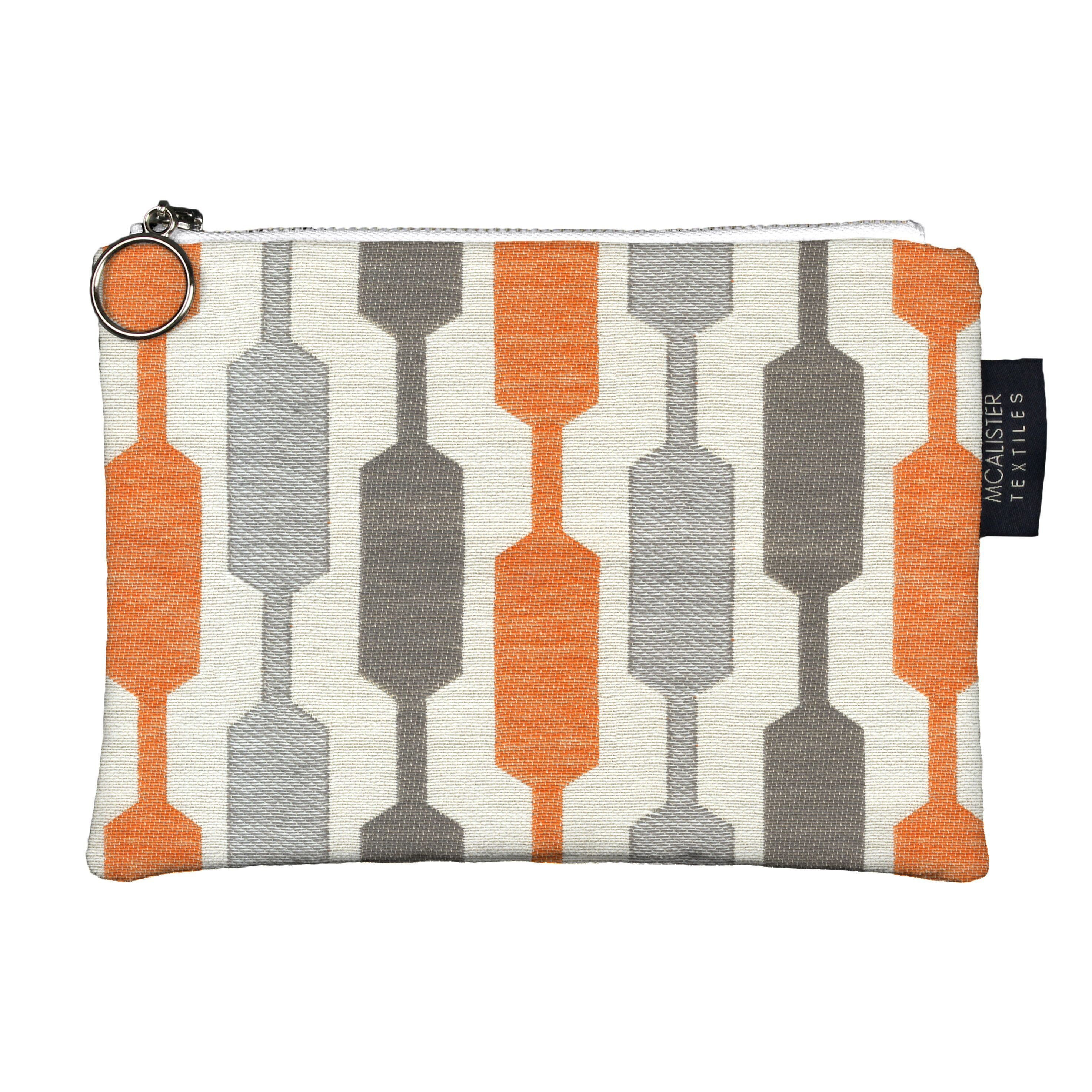 McAlister Textiles Lotta Orange + Teal Makeup Bag Clutch Bag