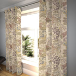 "Load image into Gallery viewer, McAlister Textiles Floris Vintage Floral Linen Curtains Tailored Curtains 116cm(w) x 182cm(d) (46"" x 72"")"
