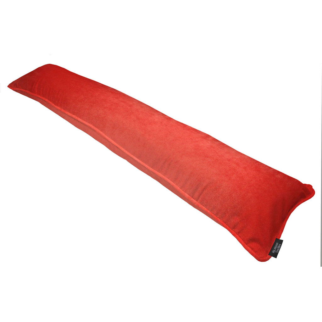McAlister Textiles Matt Coral Pink Velvet Draught Excluder Draught Excluders