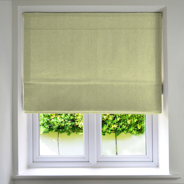 McAlister Textiles Herringbone Sage Green Roman Blinds Roman Blinds
