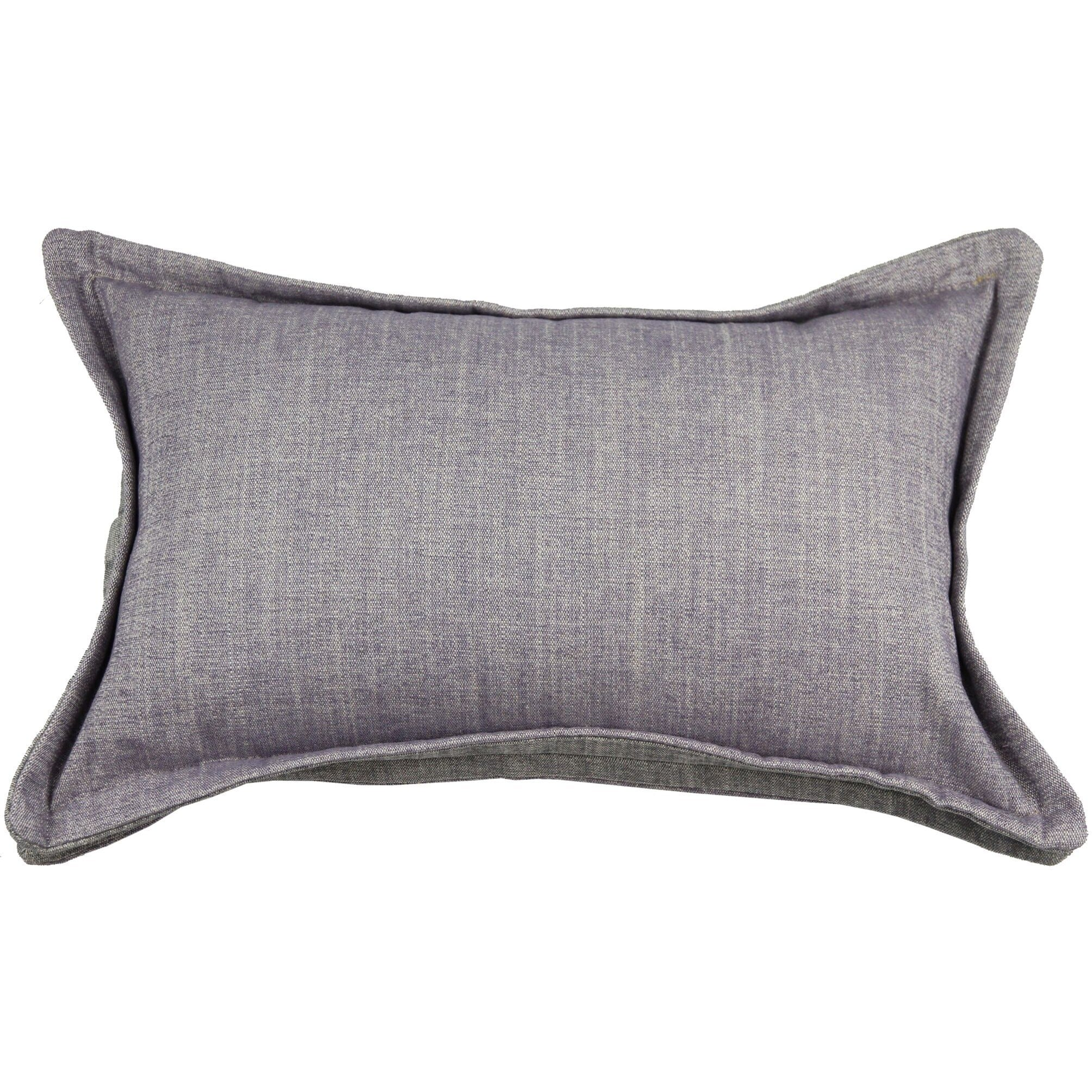 McAlister Textiles Rhumba Accent Lilac Purple + Grey Cushion Cushions and Covers Cover Only 50cm x 30cm