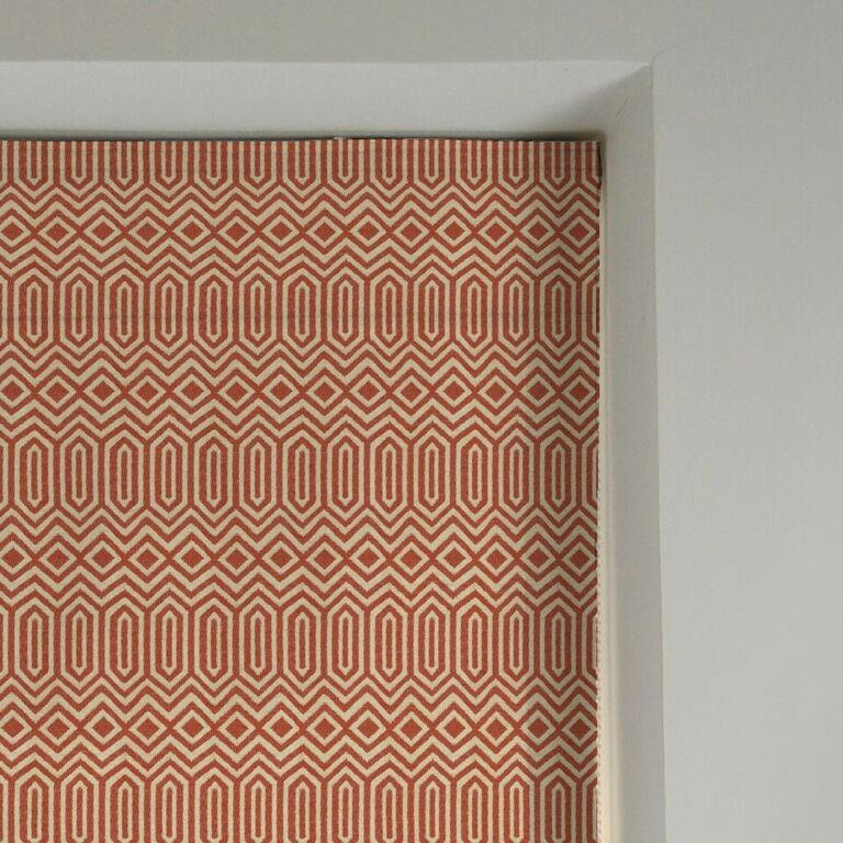 McAlister Textiles Colorado Geometric Burnt Orange Roman Blind Roman Blinds