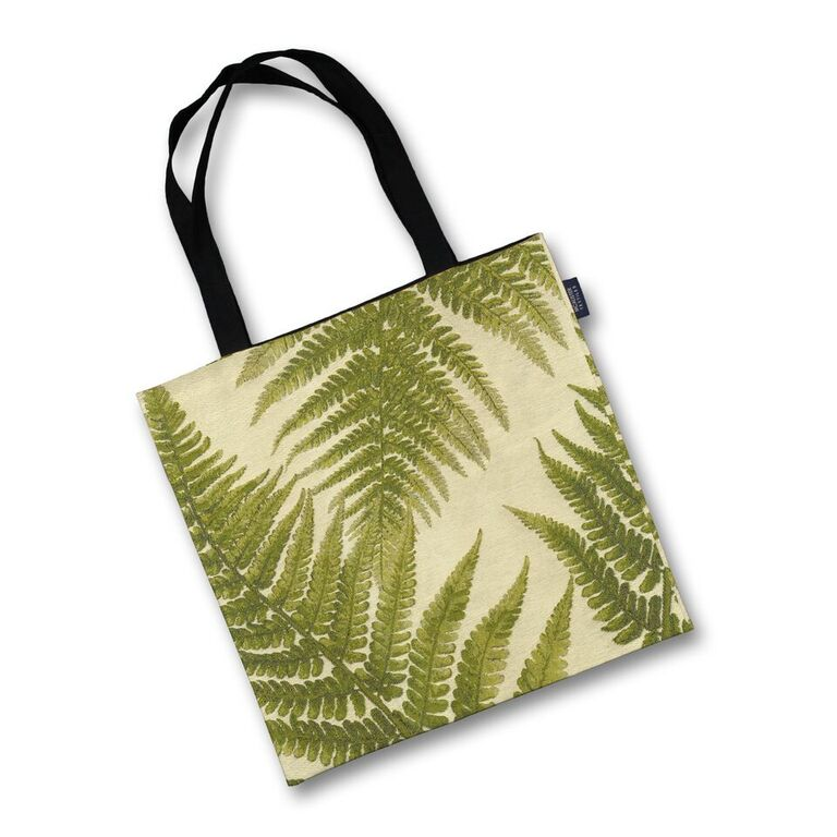 McAlister Textiles Forest Green Fern Tapestry Tote Bag Tote Bag