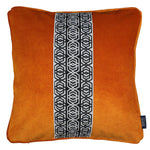 Load image into Gallery viewer, McAlister Textiles Coba Striped Burnt Orange Velvet Cushion Cushions and Covers Polyester Filler 43cm x 43cm