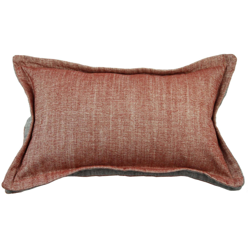 McAlister Textiles Rhumba Accent Burnt Orange + Grey Pillow Pillow Cover Only 50cm x 30cm