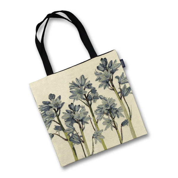 McAlister Textiles Floral Bluebell Tapestry Tote Bag Tote Bag